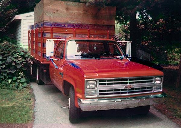 Shreiner Tree Care's first dump truck in 1987