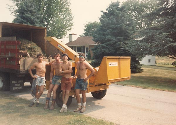 Shreiner Tree Care on a hot summer day in 1988