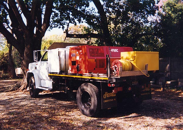 Shreiner Tree Care's big truck in 1989