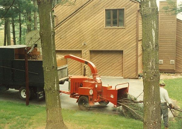 Shreiner Tree Care's brush chipper in 1990
