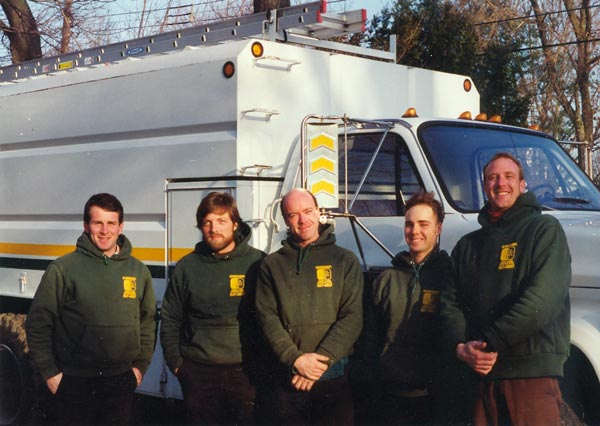 Shreiner Tree Care's crew in early 1990s