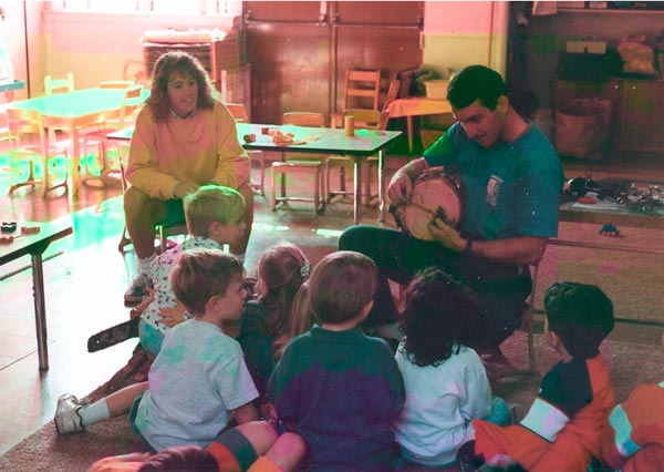 Shreiner Tree Care doing a demonstration at a school in 1992