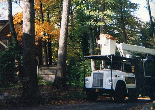 Shreiner Tree Care's bucket truck in 1994
