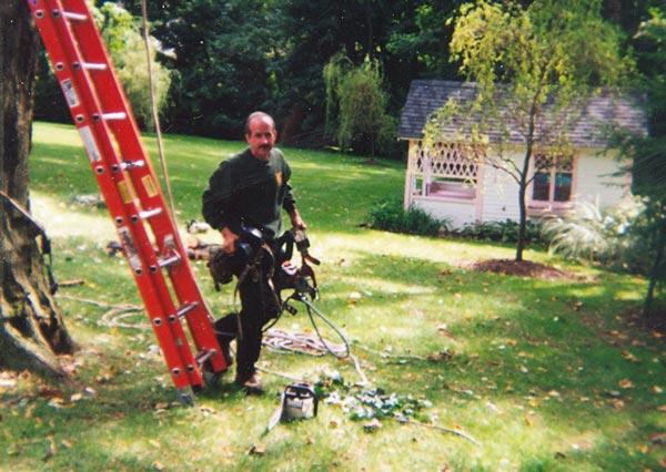 Shreiner Tree Care's Mark Livingston in 2001