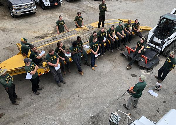 Shreiner tree care chainsaw safety demonstration