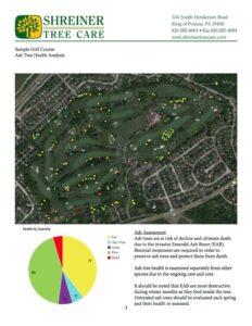 Shreiner Golf course tree services, sample sheet