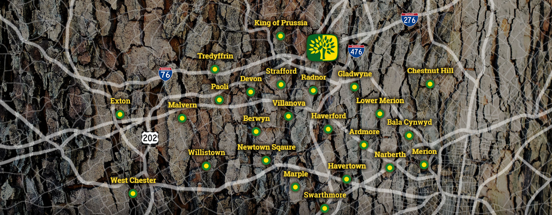 Shreiner Tree Care - Map of Service Areas